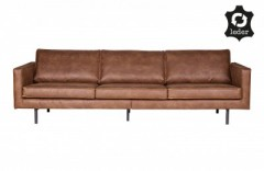 RD RECYCLE LEATHER SOFA COGNAC