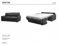 Boston Sofa Bed Leather