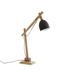DESK LAMP NATURAL WOOD 60