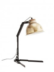 Table Lamp Brass Shade
