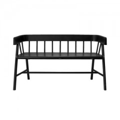 Bench Teak Painted Black