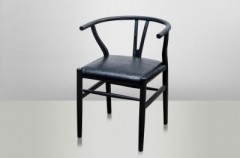 Shanghai Chair Black Oak Leather