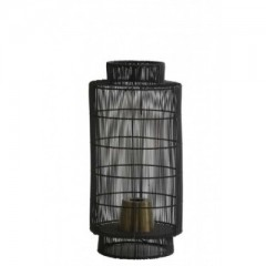 TABLE LAMP WIRE CYLINDER BLACK