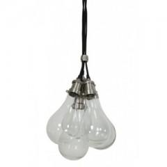 HANGING LAMP GLASS NICKEL SATIN